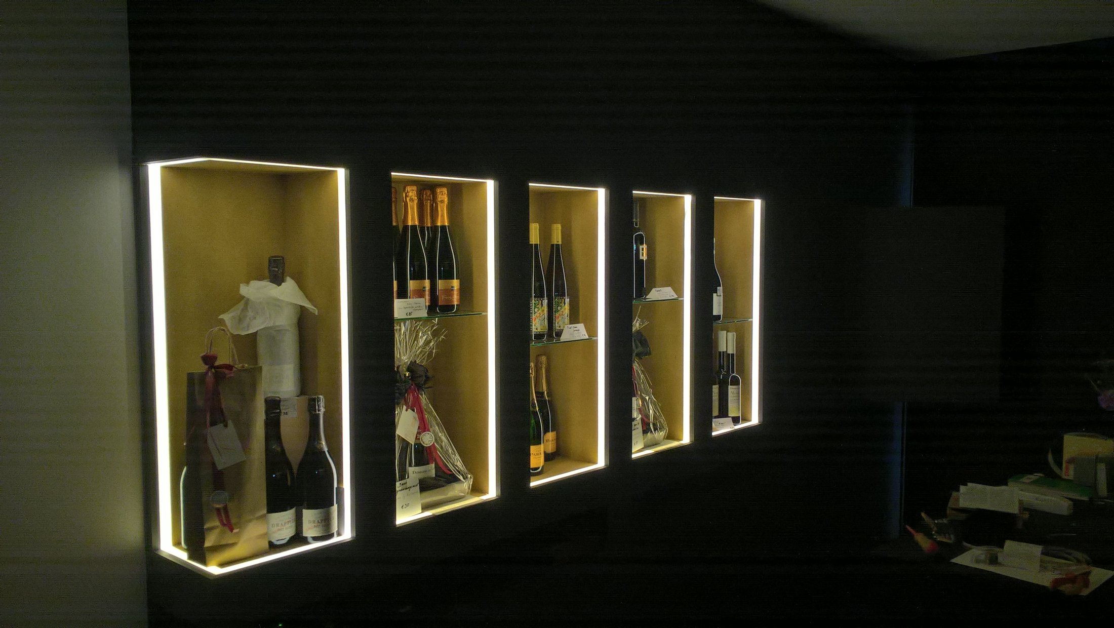 verlichting vitrine